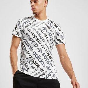 Adidas Originals Trefoil All Over Print T-Shirt Valkoinen