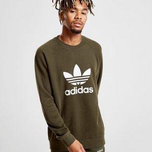 Adidas Originals Trefoil Crew Verryttelypaita Khaki / Khaki