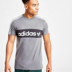 Adidas Originals Trefoil Linear T-Shirt Harmaa