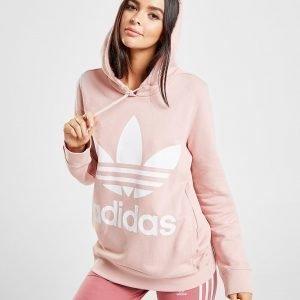 Adidas Originals Trefoil Overhead Hoodie Vaaleanpunainen