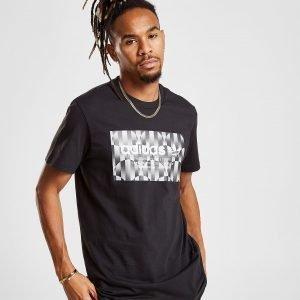 Adidas Originals Trefoil Reflective T-Shirt Musta