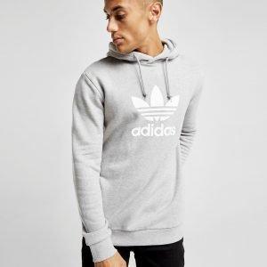 Adidas Originals Trefoil State Overhead Hoodie Harmaa