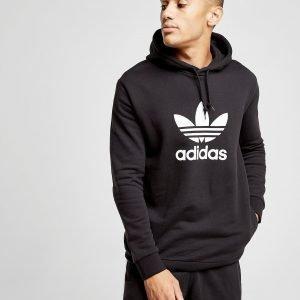 Adidas Originals Trefoil State Overhead Hoodie Musta