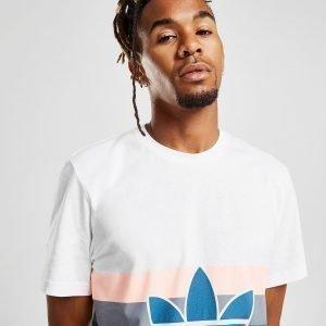Adidas Originals Trefoil Stripe T-Shirt Valkoinen