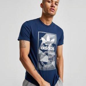 Adidas Originals Trefoil Tongue Label T-Shirt Laivastonsininen