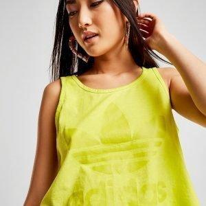 Adidas Originals Washed Crop Vest Top Keltainen