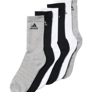 Adidas Performance 3 Stripes Crew Sukat 6 Pack