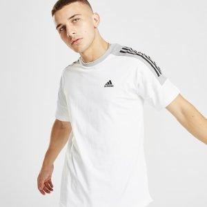 Adidas Sport Id Colour Block T-Shirt Valkoinen