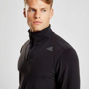 Adidas Supernova 1/4 Zip Sweatshirt Musta