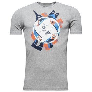 Adidas T-Paita Euro 16 Logo Harmaa Lapset