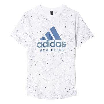 Adidas T-paita Printed Valkoinen/Sininen Lapset