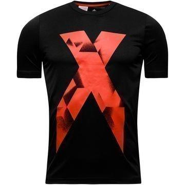 Adidas T-paita X Graphic Musta Lapset