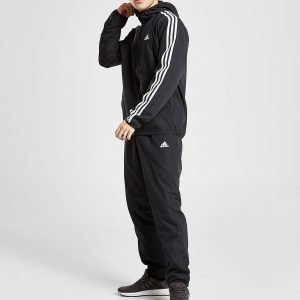 Adidas Woven Pride Hooded Tracksuit Musta