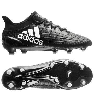 Adidas X 16.1 FG/AG Chequered Black Musta/Valkoinen