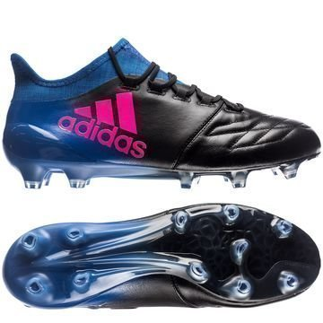 Adidas X 16.1 FG/AG Nahka Blue Blast Musta/Pinkki/Sininen