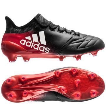 Adidas X 16.1 FG/AG Nahka Red Limit Musta/Valkoinen/Punainen