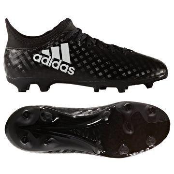 Adidas X 16.3 FG/AG Chequered Black Musta/Valkoinen Lapset
