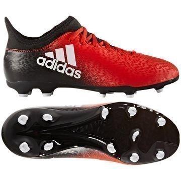 Adidas X 16.3 FG/AG Red Limit Punainen/Valkoinen/Musta Lapset