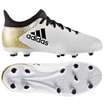 Adidas X 16.3 FG/AG Stellar Pack Valkoinen/Musta/Kulta Lapset