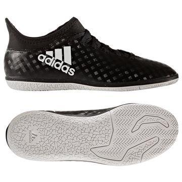 Adidas X 16.3 IN Chequered Black Musta/Valkoinen Lapset