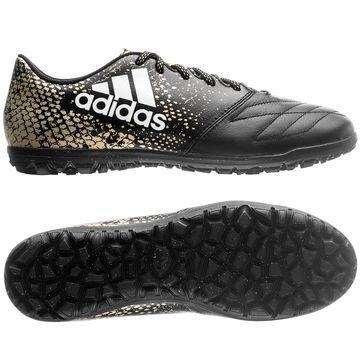Adidas X 16.3 TF Nahka Stellar Pack Musta/Valkoinen/Kulta