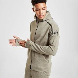 Adidas Z.N.E Snap Full Zip Hoodie Vihreä