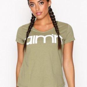 Aim'n Green Tribe Logo T-Shirt Lyhythihainen Treenipaita Vihreä