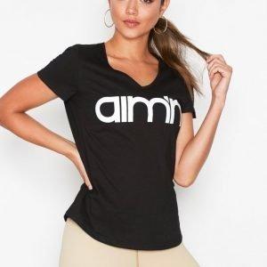 Aim'n Logo T-Shirt Lyhythihainen Treenipaita Musta