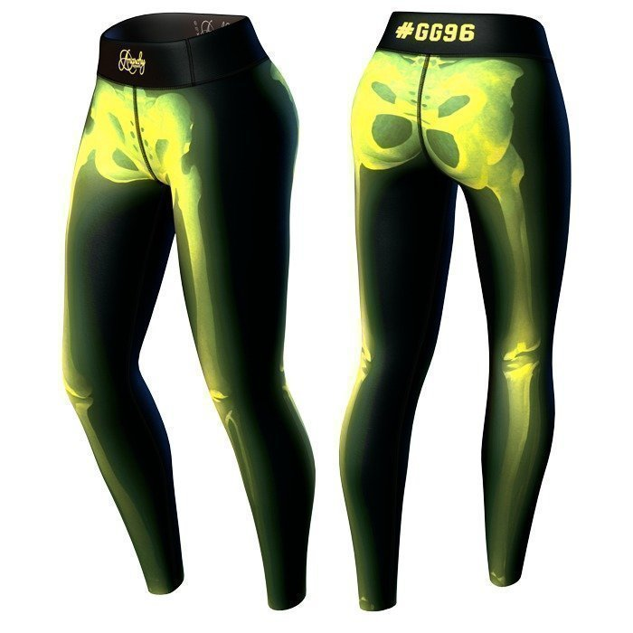 Anarchy Bad To The Bone Legging black/yellow S