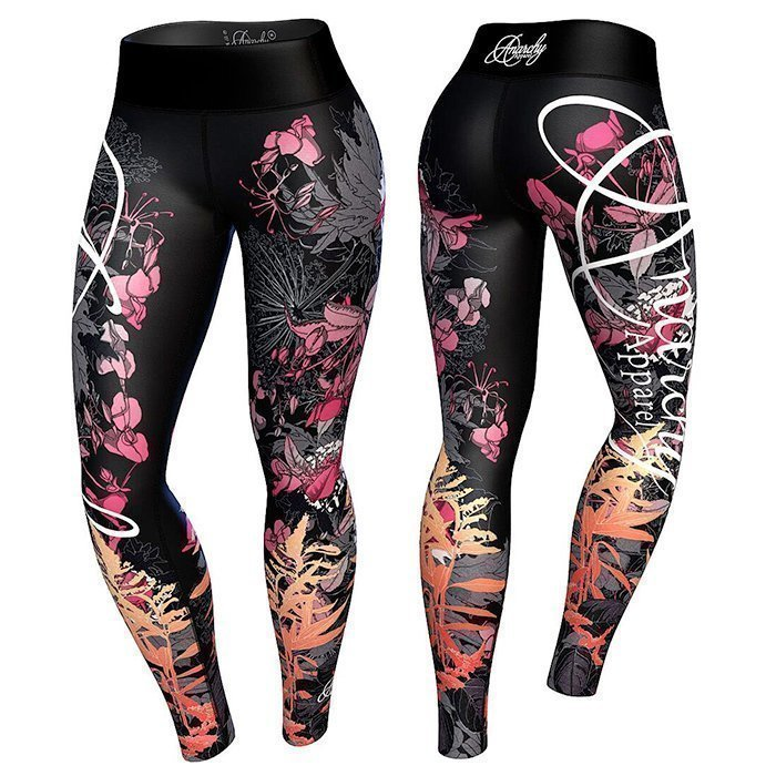 Anarchy Floral Leggings Pink/Orange L