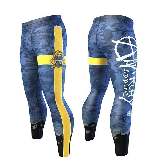 Anarchy Jaeger Men's Tights blue/yellow L