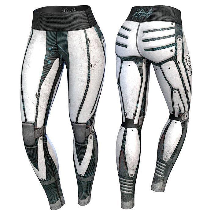 Anarchy Robota Compression Leggings White/Black XL