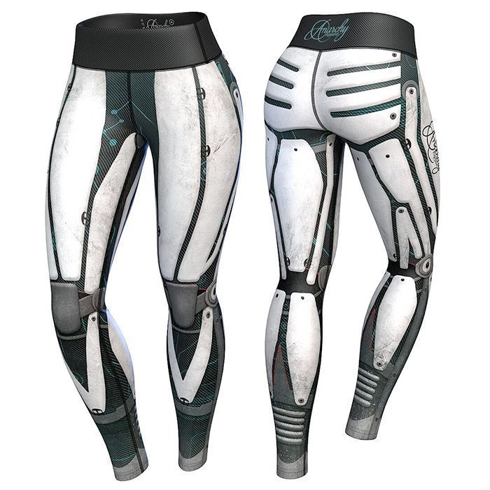 Anarchy Robota Compression Leggings White/Black
