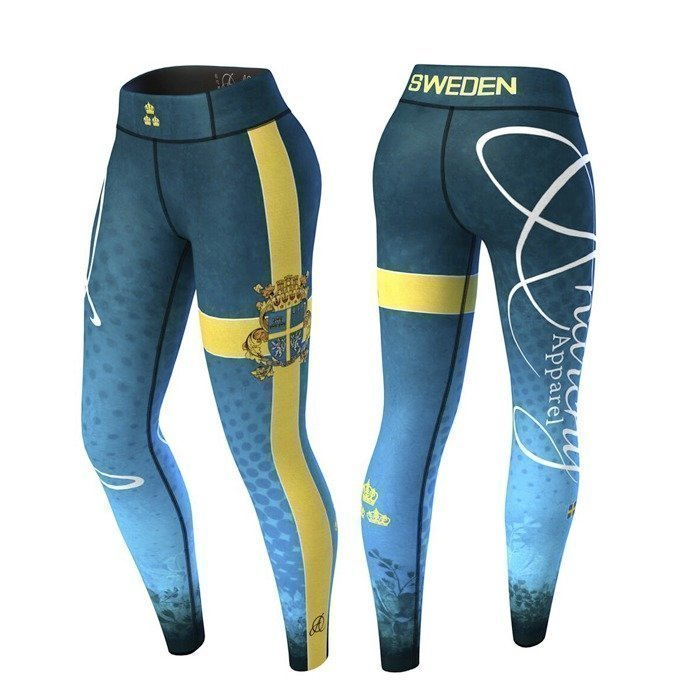 Anarchy Sweden Nation Legging 2.0 blue/yellow L
