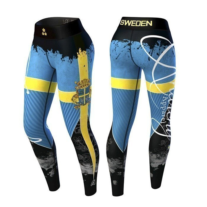 Anarchy Sweden Nation Legging 3.0 blue/yellow L