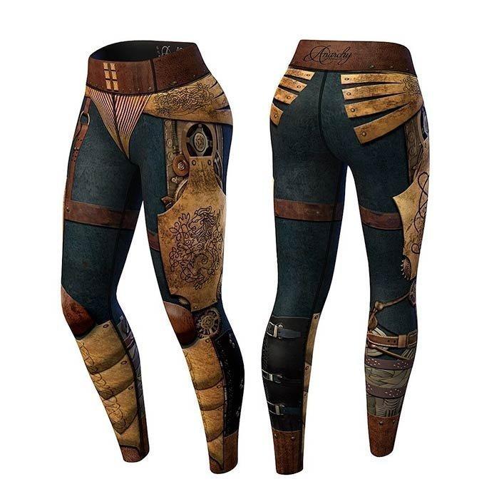 Anarchy Victorian Legging blue/brown