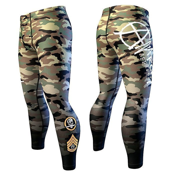 Anarchy Woodland Mens Compression Camo
