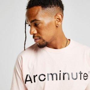 Arcminute Large Front Logo T-Paita Vaaleanpunainen