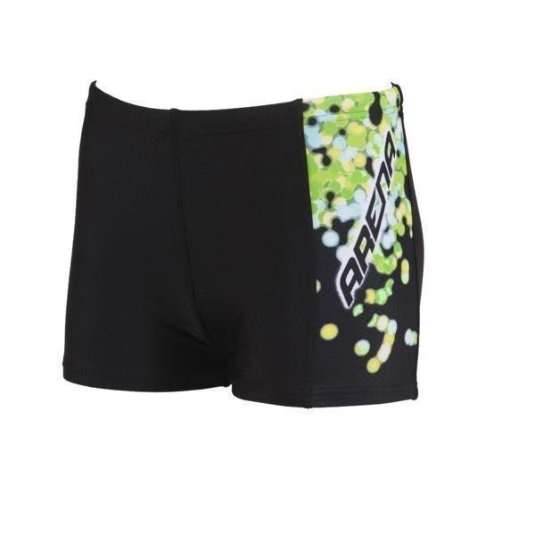 Arena B Flake Jr Boxer Mu/Vihr 8-9 Black/green. Waterfeel
