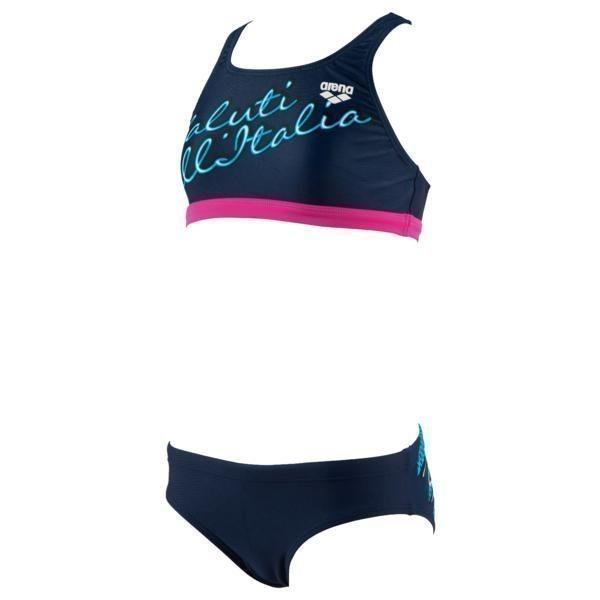 Arena Cartolina Jr Two Pieces mus 8Y Navy