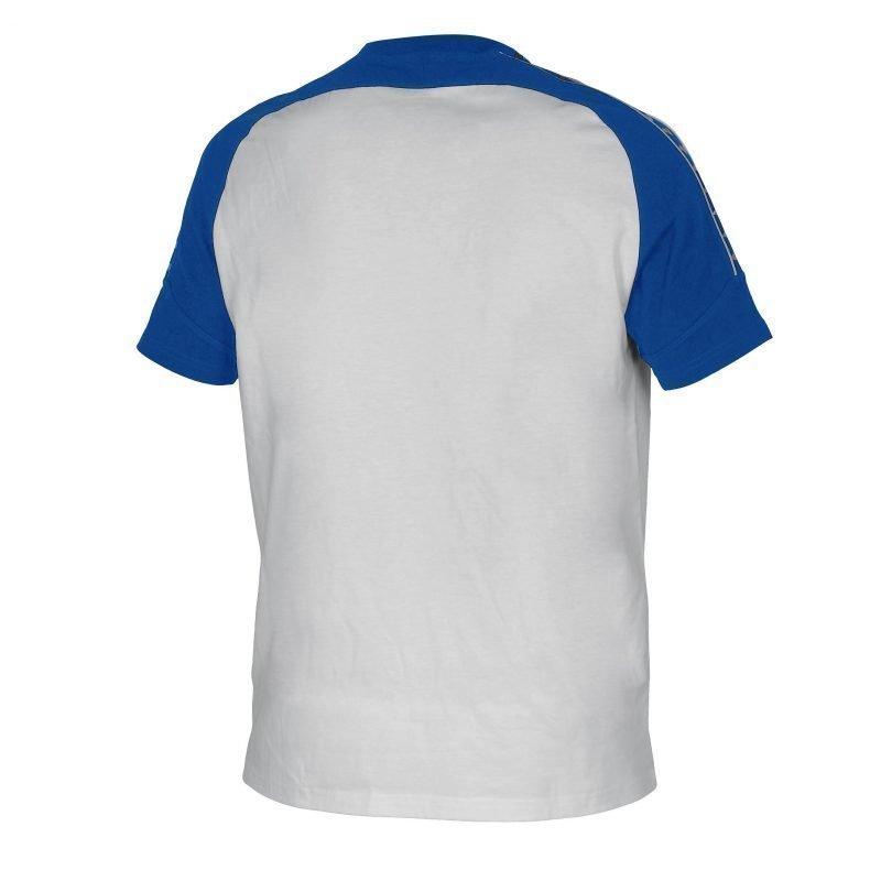 Arena Clamp t-paita white/royal S Unisex valkoinen/v sininen
