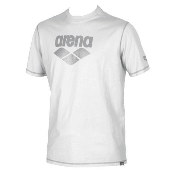 Arena Connection t-paita white 12Y Unisex+ Jr white/metallic grey