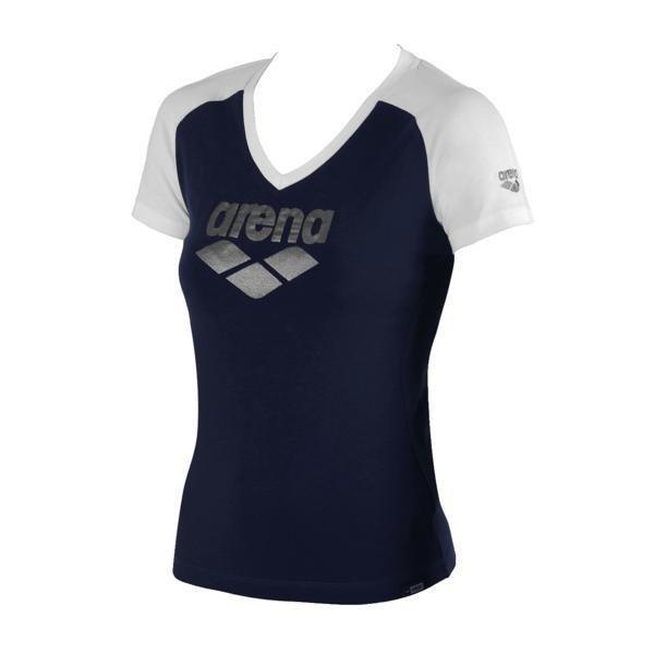 Arena Curby t-paita navy/valk S naisten