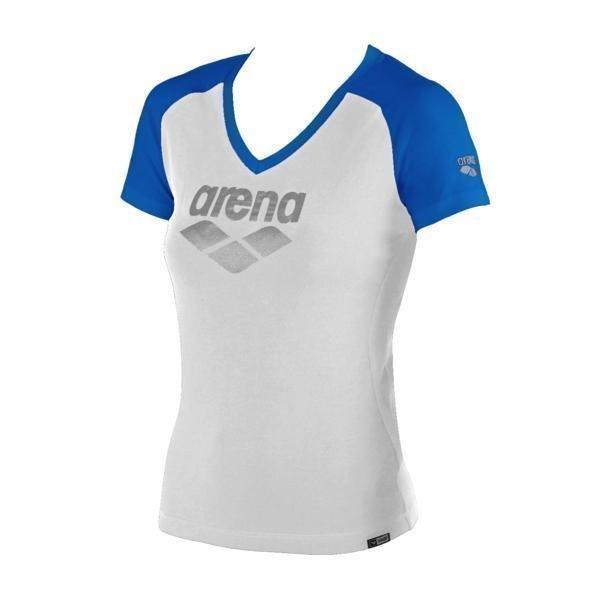 Arena Curby t-paita valk/sin L naisten