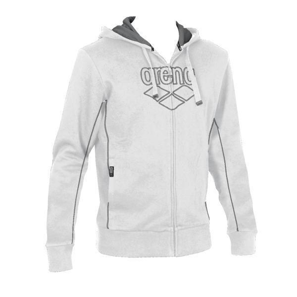 Arena Pressure vetok.huppari valk S White/metallic grey