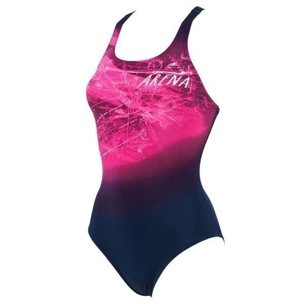Arena W Drafty One Piece navy 36 Navy
