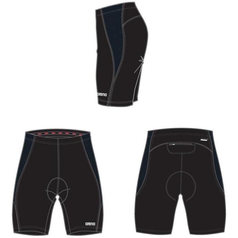 Arena Wms Tri/biking housu musta XS topattu