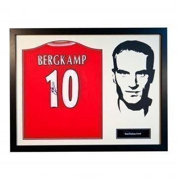 Arsenal Bergkamp Signeerattu Paita Siluetti