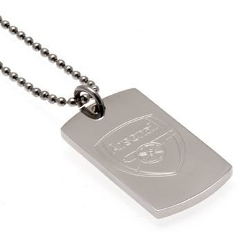 Arsenal Engraved Crest Dog Tag & Chain
