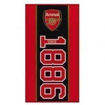 Arsenal Rantapyyhe Punainen/Musta